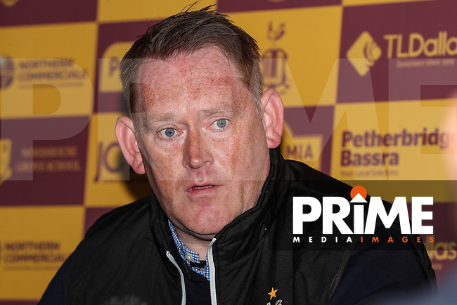 Bradford City head coach David Hopkin during Bradford City Press Conference as Bradford City appointment David Hopkin as head coach at the Northern Commercial Stadium, Bradford, England on 6 September 2018. Photo by Thomas Gadd.