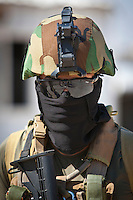 KIRKUK - NORTHERN IRAQ 16.06.14 - A member of the Kurdish Special Forces on the front lines against battles with the ISIS. ISIS have gained significant ground in the last few days since over-taking Mosul, gaining huge amounts of money and heavy artillary along the way.