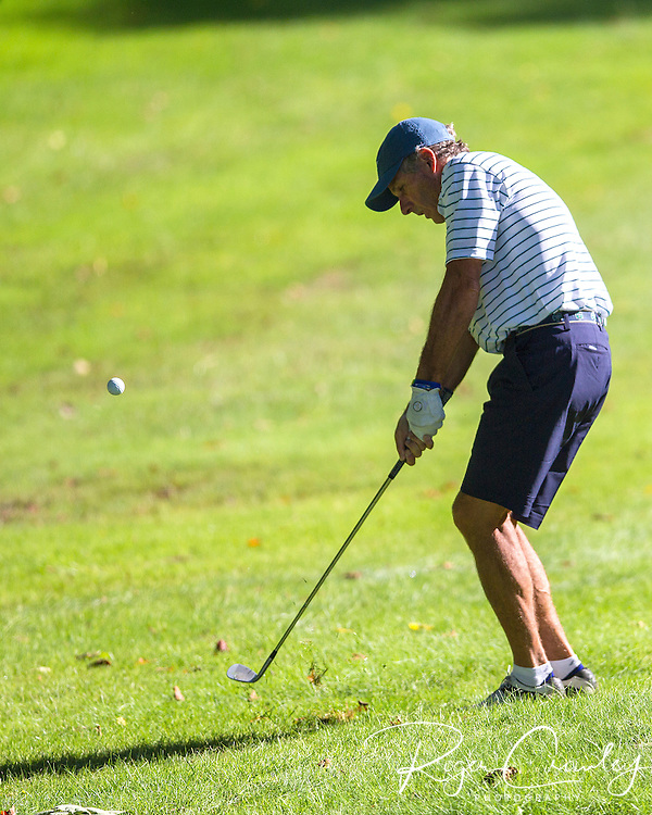 2013 Vermont Amateur Golf Championship at Country Club of Barre. Evan Russell leads in the first round with a score of 69.