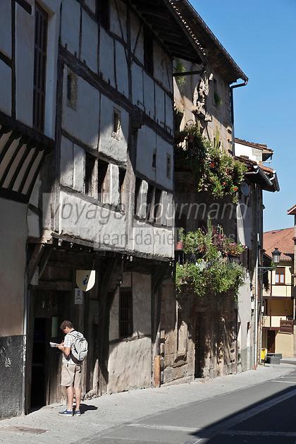Europe/Espagne/Pays Basque/Guipuscoa/Goierri/Segura: Ruelles et demeures  de la vieille  ville