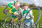 James Looney and Brendan Coffey Killarney who are cycling to Lourdes at Easter to raise funds for the Irish Pilgrimmage Trust..