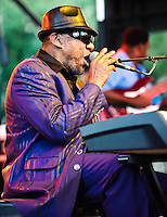 Henry Butler playing at the 2011 Blues and BBQ Festival in New Orleans, LA.