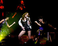 Wednesday, October 28, 2009--Miley Cyrus performs at the Scottrade Center..Sarah Conard   freelance