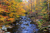 Autumn colors along the Little River, Great Smoky Mountains National Park, Tennessee