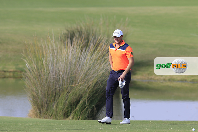 Bjorn Akesson (SWE) on the 14th hole during Thursday's Round 1 of the 2016 Portugal Masters held at the Oceanico Victoria Golf Course, Vilamoura, Algarve, Portugal. 19th October 2016.<br /> Picture: Eoin Clarke | Golffile<br /> <br /> <br /> All photos usage must carry mandatory copyright credit (&copy; Golffile | Eoin Clarke)