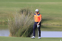 Bjorn Akesson (SWE) on the 14th hole during Thursday's Round 1 of the 2016 Portugal Masters held at the Oceanico Victoria Golf Course, Vilamoura, Algarve, Portugal. 19th October 2016.<br /> Picture: Eoin Clarke   Golffile<br /> <br /> <br /> All photos usage must carry mandatory copyright credit (© Golffile   Eoin Clarke)