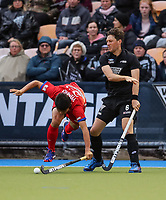 Simon Child. International Hockey, Blacksticks Men v Japan, TET Multisport Centre, Stratford, New Zealand. Thursday 10 October 2019. Photo: Simon Watts/www.bwmedia.co.nz/HockeyNZ