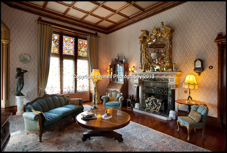 BNPS.co.uk (01202) 558833<br /> Picture: FennellPhotography/BNPS<br /> <br /> ****Please use full byline****<br /> <br /> Yours for £5.5 million - A Downton Abbey of your own...<br /> <br /> Drawing room.<br /> <br /> Lover's of the hit tv series now have the chance to buy into the lifestyle of the Grantham's, after this very similar looking property has come on the market in the heart of Ireland.<br /> <br /> Stunning Tulira Castle, Co Galway, dates back to the medieval times has emerged for sale for £5.5 million.<br /> <br /> The enormous castle sits in 250 acres of rolling countryside in the village of Ardrahan in County Galway, Ireland and is so idyllic it has been home to the same family for the last two decades.<br /> <br /> It is currently owned by Ruud and Femmy Bolmeijer who are looking to downsize.