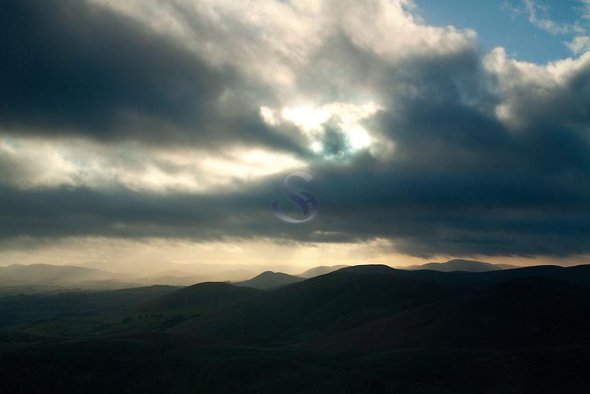 The Scottish Borders from West Kip, The Pentland Hills, The Pentland Hills Regional Park, Lothian