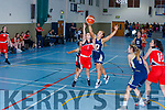 Cassandra Buckley Team Tom McCarthy's  and Aoife O'Callaghan Ulster University Elks contest the rebound during their Div 1 National League game in Castleisland on Saturday