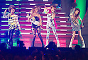 June 23, 2012, Chiba, Japan - South Korean pop group 2NE1 performs on stage during the MTV Video Music Awards Japan event. (Photo by Christopher Jue/AFLO)