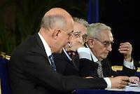 Roma, 30 Ottobre 2013<br /> 89esima Giormata Mondiale del Risparmio organizzata dall'Associazione ACRI.<br /> Nella foto  Fabrizio Saccomanni, ministro Economia e Finanze