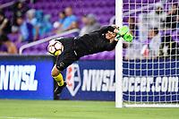 Orlando, FL - Saturday July 07, 2018: DiDi Haracic prior to a regular season National Women's Soccer League (NWSL) match between the Orlando Pride and the Washington Spirit at Orlando City Stadium.
