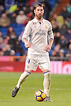 Real Madrid's Sergio Ramos during La Liga match between Real Madrid and Real Sociedad at Santiago Bernabeu Stadium in Madrid, Spain. January 29, 2017. (ALTERPHOTOS/BorjaB.Hojas)