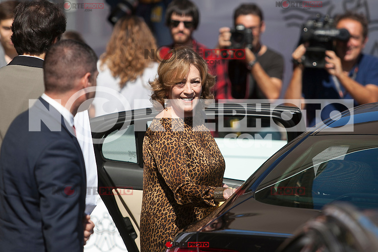 Carmen Maura arrives to 63rd Donostia Zinemaldia (San Sebastian International Film Festival) in San Sebastian, Spain. September 18, 2015. (ALTERPHOTOS/Victor Blanco) /NortePhoto.com