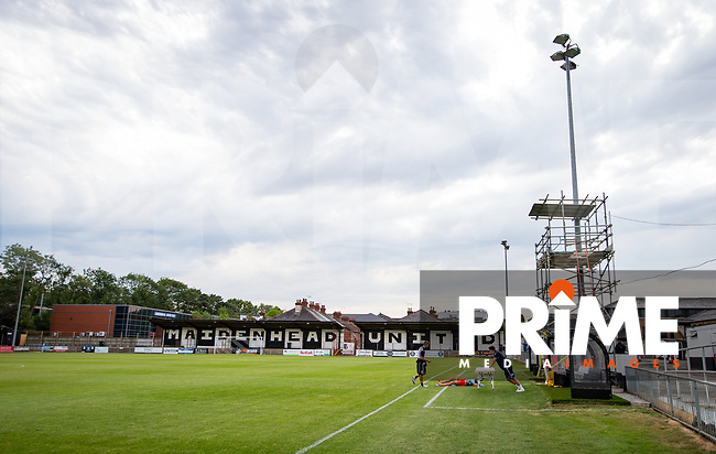 General view of the Stadium pre match during the 2018/19 Pre Season Friendly match between Maidenhead United and Wycombe Wanderers at York Road, Maidenhead, England on 27 July 2018. Photo by Andy Rowland.