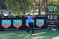 Wade Ormsby (AUS) in action on the 13th during Round 2 of the ISPS Handa World Super 6 Perth at Lake Karrinyup Country Club on the Friday 9th February 2018.<br /> Picture:  Thos Caffrey / www.golffile.ie<br /> <br /> All photo usage must carry mandatory copyright credit (&copy; Golffile   Thos Caffrey)