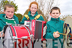 Getting in tune at the St Patrick Day parade in Killarney on Wednesday were Aaron Morris, Carol O'Sullivan and Dave Cronin, Scoil Realt na Mara, Kenmare...
