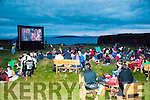 Open Air Cinema: The scene at the Open Air Cinema near McMunn's Bar & Restaurant in Ballybunion on Friday night last.
