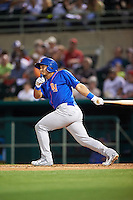 Midland RockHounds shortstop Franklin Barreto (10) at bat during a game against the San Antonio Missions on April 22, 2016 at Nelson W. Wolff Municipal Stadium in San Antonio, Texas.  San Antonio defeated Midland 8-4.  (Mike Janes/Four Seam Images)