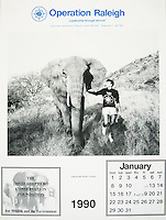 Image of elephant used in Operation Raleigh Calendar.