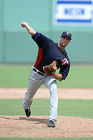 Minnesota Twins pitcher Randy LeBlanc (73) during an Instructional League game against the Boston Red Sox on September 26, 2014 at jetBlue Park at Fenway South in Fort Myers, Florida.  (Mike Janes/Four Seam Images)