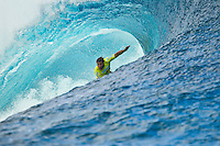 Anthony Walsh (AUS).  Teahupoo, Tahiti Iti, French Polynesia. Sunday August 14 2011.The Air Tahiti Nui Von Zipper Trials were held today in 1.5 m - 2 m waves at the infamous reef break of Teahupoo. Ricardo do Santos (BRA) was the winner defeating local surfer and former Trials winner Heiarii Williams (PYF) in the 35 minute final. Both surfers will be Wildcard entries in the Billabong Pro Tahiti which begins on the 19th of August. Photo: joliphotos.com
