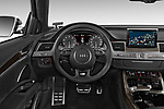 Car pictures of steering wheel view of a 2014 Audi S8 Base 4 Door Sedan