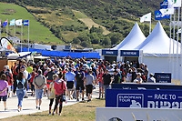 Big crowds during Thursday's Round 1 of the 2018 Dubai Duty Free Irish Open, held at Ballyliffin Golf Club, Ireland. 5th July 2018.<br /> Picture: Eoin Clarke | Golffile<br /> <br /> <br /> All photos usage must carry mandatory copyright credit (&copy; Golffile | Eoin Clarke)