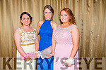 Attending the Castleisland Community College Debs at the Earl of Desmond Hotel on Friday night were  l-r  Amy Galwey, Paula Fleming and Rachel O'Connor.