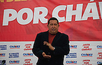 Venezuela: Caracas,11/09/11 .Venezuela's President Hugo Chavez speaks to reporters during a press conference in Alba  Hotel in Caracas, in his presidential reelection campaign for the next October 7 Elections.Carlos Hernandez/Archivolatino