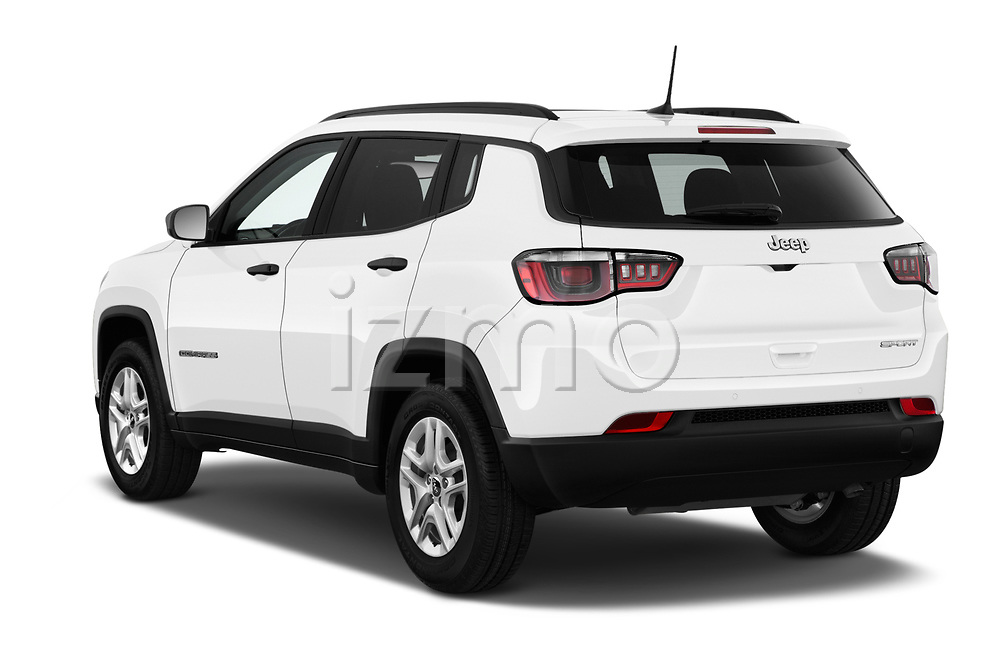 Car pictures of rear three quarter view of a 2017 Jeep Compass Sport 2wd 5 Door SUV angular rear