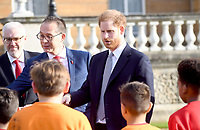 16/01/2020 - Prince Harry Duke of Sussex at the draw for the Rugby League World Cup 2021 where he met children from a local school at Buckingham Palace in London. Photo Credit: ALPR/AdMedia