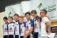 Rotorua Racing team (New Zealand). The opening ceremony of the NZ Cycle Classic UCI Oceania Tour at Mitre 10 Mega in Masterton, New Zealand on Tuesday, 16 January 2018. Photo: Dave Lintott / lintottphoto.co.nz