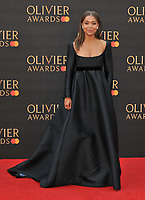 Antonia Thomas at the Olivier Awards 2019, Royal Albert Hall, Kensington Gore, London, England, UK, on Sunday 07th April 2019.<br /> CAP/CAN<br /> ©CAN/Capital Pictures