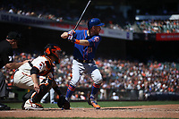SAN FRANCISCO, CA - JULY 20:  Todd Frazier #21 of the New York Mets bats against the San Francisco Giants during the game at Oracle Park on Saturday, July 20, 2019 in San Francisco, California. (Photo by Brad Mangin)