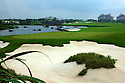 The 18th hole during the final round of the Omega Mission Hills World Cup played at The Blackstone Course, Mission Hills Golf Club on November 27th in Haikou, Hainan Island, China.( Picture Credit / Phil Inglis )