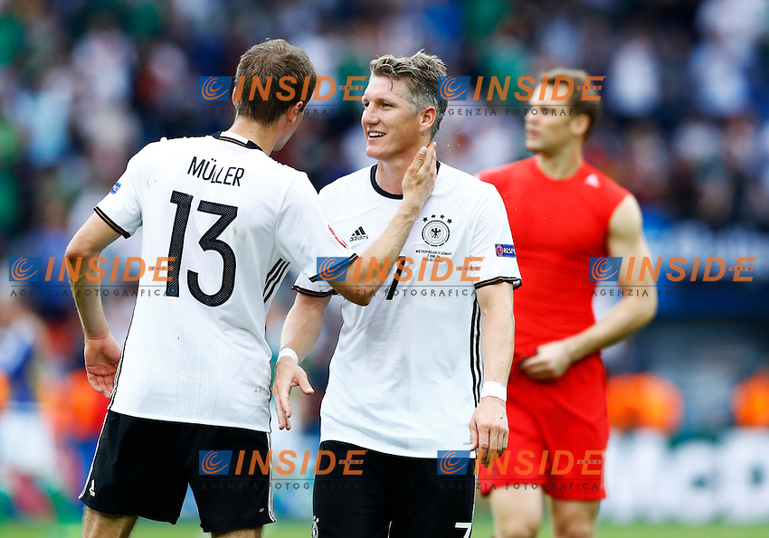 Thomas Muller and Bastian Schweinsteiger Germany<br /> Paris 21-06-2016 Parc des Princes Footballl Euro2016 Northern Ireland - Germany  / Irlanda del Nord - Germania Group Stage Group C. Foto Matteo Ciambelli / Insidefoto