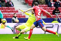 ATLETICO DE MADRID v GETAFE CF.LA LIGA 2017/2018. ROUND 18.
