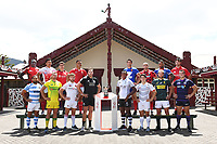 Mens Captains Team Photo.<br /> 2019 Hamilton Sevens captains' photo at Turangawaewae Marae in Ngaruawahia, New Zealand on Wednesday, 23 January 2019. Photo: Jeremy Ward / lintottphoto.co.nz