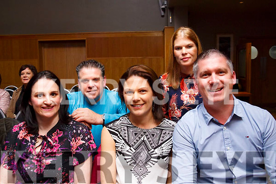 Suzanne O'Halloran, Collette and Kieran O'Hallaron and standing Brendan and Sandra O'Flaherty pictured at the Enable Ireland Lip Sing battle at the Ballyroe Heights hotel on Saturday night.