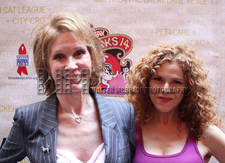 Mary Tyler Moore & Bernadette Peters.onstage at Broadway Barks 14 at the Booth Theatre on July 14, 2012 in New York City. Marking its 14th anniversary, Broadway Barks!, founded by Bernadette Peters and Mary Tyler Moore helps many of New York City's shelter animals find permanent homes and also inform New Yorkers about the plight of the thousands of homeless dogs and cats in the metropolitan area.