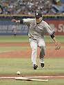 Masahiro Tanaka (Yankees),<br /> APRIL 18, 2015 - MLB :<br /> Pitcher Masahiro Tanaka of the New York Yankees in action during the Major League Baseball game against the Tampa Bay Rays at Tropicana Field in St. Petersburg, Florida, United States. (Photo by AFLO)