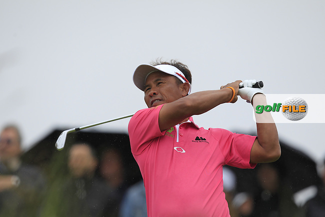 Thongchai Jaidee (THA) on the 10th tee during Round 4 of the 100th Open de France, played at Le Golf National, Guyancourt, Paris, France. 03/07/2016. <br /> Picture: Thos Caffrey | Golffile<br /> <br /> All photos usage must carry mandatory copyright credit   (&copy; Golffile | Thos Caffrey)