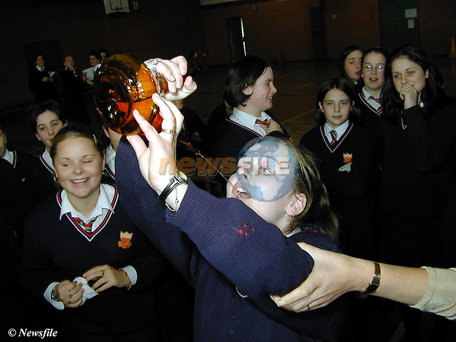 Michelle Flynn from Elmwood at the Spanish Day in the Sacred Heart School..Picture Paul Mohan Newsfile
