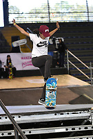 BOGOTA - COLOMBIA - 12 - 08 - 2017: Alexa Garcia, Skater de Mexico, durante competencia en el Primer Campeonato Panamericano de Skateboarding, que se realiza en el Palacio de los Deportes en la Ciudad de Bogota. / Alexa Garcia, Skater from Mexico, during a competitions in the First Pan American Championship of Skateboarding, that takes place in the Palace of Sports in the City of Bogota. Photo: VizzorImage / Luis Ramirez / Staff.