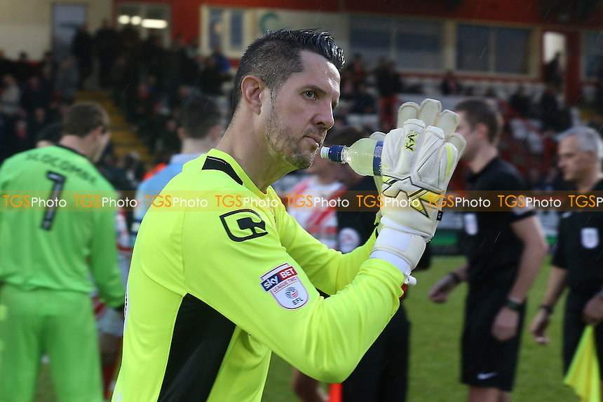 Chris Day of Stevenage during Stevenage vs Blackpool, Sky Bet EFL League 2 Football at the Lamex Stadium on 10th December 2016