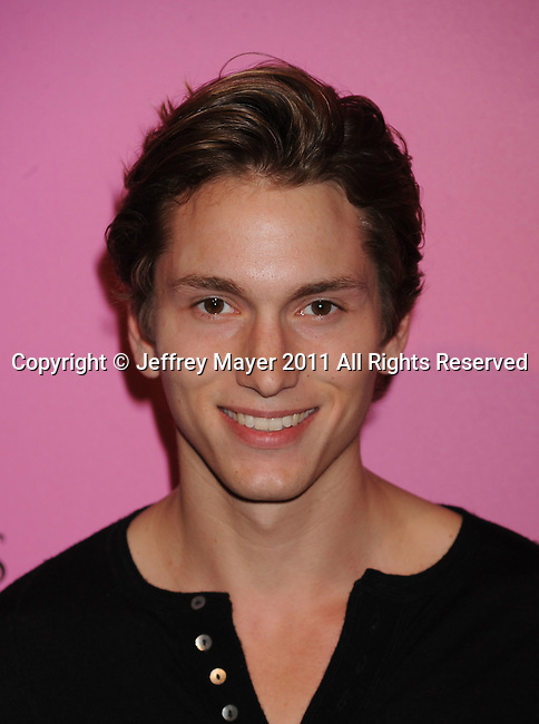 "LOS ANGELES, CA - MAY 12: Benjamin Stone arrives to the Victoria's Secret 6th Annual ""What Is Sexy? List: Bombshell Summer Edition"" Pink Carpet Event at The Beverly on May 12, 2011 in Los Angeles, California."