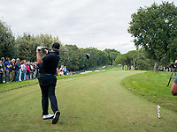 Shane Lowry (IRL) in action on the 3rd hole during the first round of the 76 Open D'Italia, Olgiata Golf Club, Rome, Rome, Italy. 10/10/19.<br /> Picture Stefano Di Maria / Golffile.ie<br /> <br /> All photo usage must carry mandatory copyright credit (© Golffile | Stefano Di Maria)