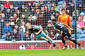 10th September 2017, Turf Moor, Burnley, England; EPL Premier League football, Burnley versus Crystal Palace; Ben Mee of Burnley dives to head the ball away from the penalty area